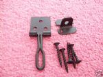 "2x  3 ""wire And Hasp Staple Black"